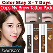Berrisom Korea★Oops My Brow Tattoo Tint Pack (10g)★Color Stay 3 to 7 days★Waterproof Sweat proof★Natural Tones Tattoo brows★眉飛色舞 持久染眉膠