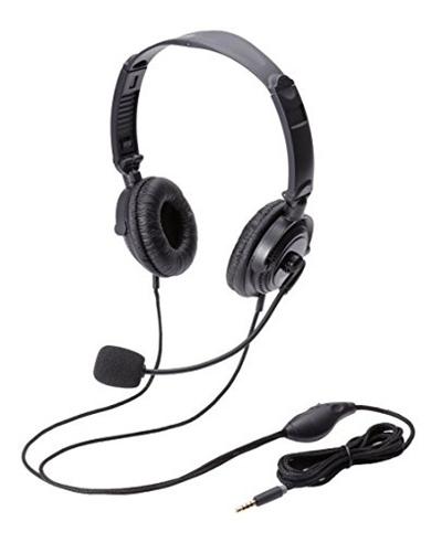 エレコムヘッドセットマイクロフォン両耳オーバーヘッド折り畳み式4極ピンジャック耐久コード1.8mHS-HP20TBK