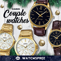 [XMAS SPECIAL] *APPLY 25% OFF COUPON* CASIO Couple Watch Sets Leather and Stainless Steel Watches.