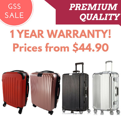 **SALE** High quality 4 Wheel 360-Degree Spinner Luggage Deals for only S$100 instead of S$0