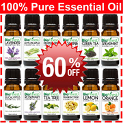 60% OFF ★100% USA Pure Essential Oil ★ Peppermint/ Orange/Grapefruit/ Tea Tree/ Eucalyptus/ Lemon