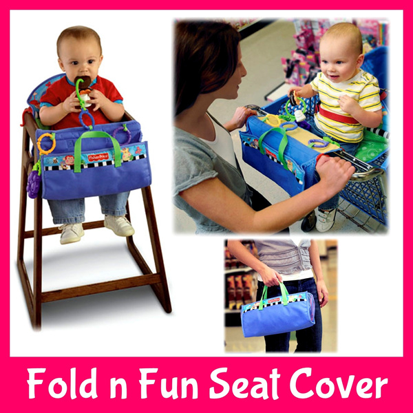 Fisher-Price Fold n Fun Seat Cover*High Dining Booster Chair Supermarket Trolley Cart*Travel Compact*Baby Toddler Kids Children Deals for only S$49.9 instead of S$0