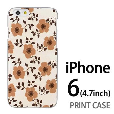 iPhone6 (4.7インチ) 用『0913 花ベージュ』特殊印刷ケース【 iphone6 iphone アイフォン アイフォン6 au docomo softbank Apple ケース プリント カバー スマホケース スマホカバー 】の画像