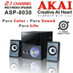 AKAI ASP-8030 Multimedia Speaker - Deep and Wide Sound/ Compatible with PC DVD CD MP3/ Best Choice for Game Music/ Exclusive Distributors in Singapore/ 1 Year Local Warranty/ Safety Mark Approved