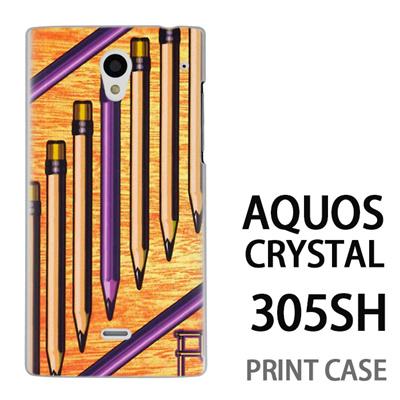 AQUOS CRYSTAL 305SH 用『No1 P ペンシル』特殊印刷ケース【 aquos crystal 305sh アクオス クリスタル アクオスクリスタル softbank ケース プリント カバー スマホケース スマホカバー 】の画像