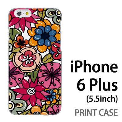 iPhone6 Plus (5.5インチ) 用『0618 トロピカルフラワー』特殊印刷ケース【 iphone6 plus iphone アイフォン アイフォン6 プラス au docomo softbank Apple ケース プリント カバー スマホケース スマホカバー 】の画像