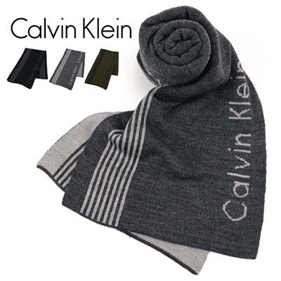 カルバンクライン Calvin Klein(CK) メンズ サイドストライプマフラー 2977232の画像