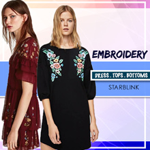 [20 Sept NEW] Embroidery Blouse Shirts Tshirt Collections