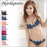 [Harlequin] Gorgeous Lingerie! Victorian Embroideries Bra Set ABCD cleavage(24TS1449W)