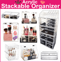 sales $2~ Acrylic Stackable cosmetics organizer jewelry Organizer Makeup box  Transparent Storage