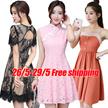 26/5 Korean dresses/Occupation/Casual/chiffon/lace/suit/Office/Leisure/Bridesmaid/Short/strapless
