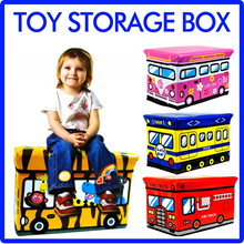 [HIGH-QUALITY] Kids Cartoon Storage Box Stool Foldable Home Storage Stools Cute Children Organiser