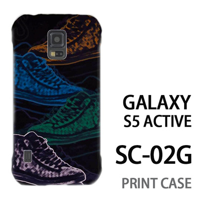 GALAXY S5 Active SC-02G 用『No1 S スニーカースケッチ調』特殊印刷ケース【 galaxy s5 active SC-02G sc02g SC02G galaxys5 ギャラクシー ギャラクシーs5 アクティブ docomo ケース プリント カバー スマホケース スマホカバー】の画像