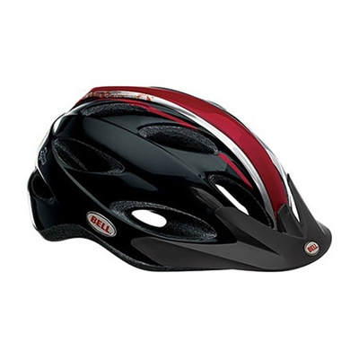 ベル(BELL) XLP/エックスエルピー ヘルメット 自転車 サイクリング Recreational ブラック/レッド/シルバースカルビー XL 58-65 7040656 【ロード クロス サイクル ビギナー バイク】の画像