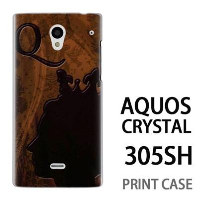 AQUOS CRYSTAL 305SH 用『No1 Q 女王のレリーフ』特殊印刷ケース【 aquos crystal 305sh アクオス クリスタル アクオスクリスタル softbank ケース プリント カバー スマホケース スマホカバー 】の画像
