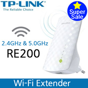 [TP-LINK]Easy WI-FI Extension lexible placementAC750 RE200/ WI-FI Range Extender / 2 years global warranty / 2.4GHz /5.0GHz/ 300Mbps~433Mbps/wifi/pc/wifi extender