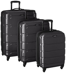 Samsonite Omni Hardside Luggage Nested Spinner Set (20/24/28) Black (68311-1041)
