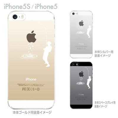 【iPhone5S】【iPhone5】【iPhone5sケース】【iPhone5ケース】【スマホケース】【クリア カバー】【クリアケース】【ハードケース】【着せ替え】【イラスト】【クリアーアーツ】【釣り】 06-ip5s-ca0016の画像