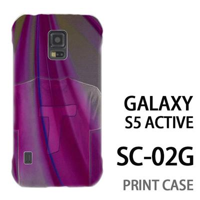 GALAXY S5 Active SC-02G 用『No1 T 紫のTシャツ』特殊印刷ケース【 galaxy s5 active SC-02G sc02g SC02G galaxys5 ギャラクシー ギャラクシーs5 アクティブ docomo ケース プリント カバー スマホケース スマホカバー】の画像