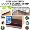 Adhesive Door Sealing Strip / Dust Free / Prevent Insects / Rubber sealing