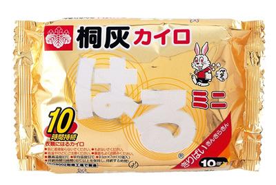 送料無料桐灰カイロ貼るカイロミニサイズ10枚×48袋1袋あたり270円(税抜)02901の画像