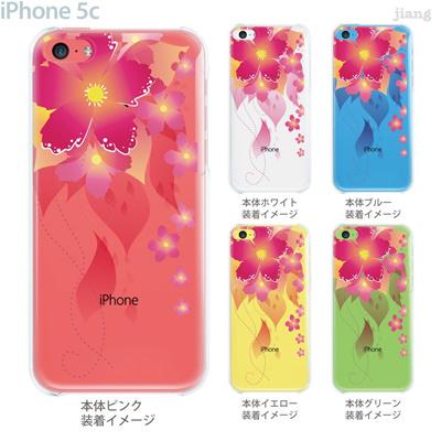 【iPhone5c】【iPhone5cケース】【iPhone5cカバー】【ケース】【カバー】【スマホケース】【クリアケース】【フラワー】【レトロフラワー】 06-ip5c-ca0105の画像