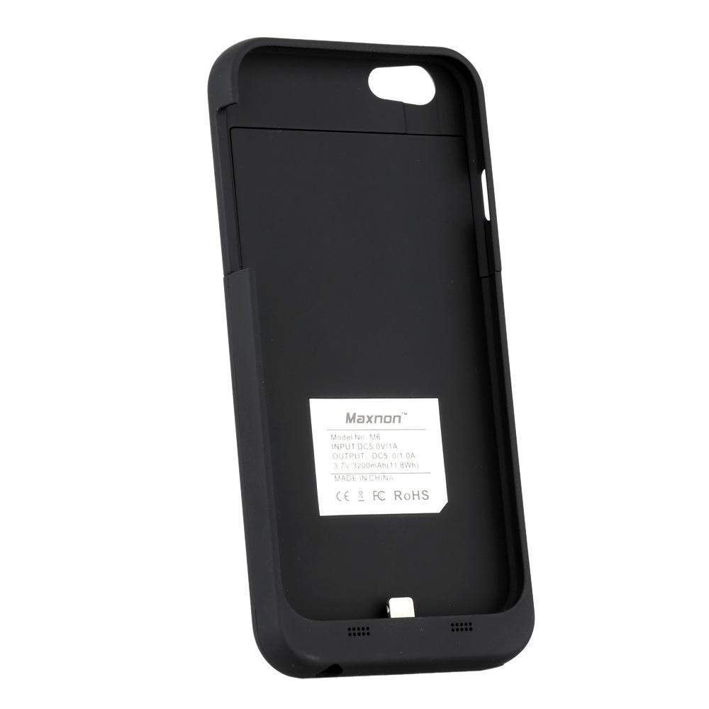 【クリックで詳細表示】iPhone 6 4.7 Maxnon M6 3200mAh外部バッテリ電源銀行ケースパックバックアップ充電器カバー[MFiの証明付き] SG
