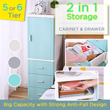 Cabinet and Drawer Storage 5 6 Tier Slim Style Store Big capacity waterproof wheel anti-fall drawer