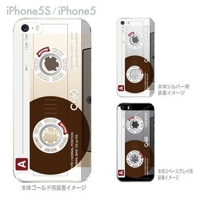 【iPhone5S】【iPhone5】【Clear Arts】【iPhone5ケース】【カバー】【スマホケース】【クリアケース】【クリアーアーツ】【カセットテープ】 08-ip5-ca0095の画像
