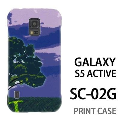 GALAXY S5 Active SC-02G 用『No1 T 草原の一本の木』特殊印刷ケース【 galaxy s5 active SC-02G sc02g SC02G galaxys5 ギャラクシー ギャラクシーs5 アクティブ docomo ケース プリント カバー スマホケース スマホカバー】の画像