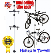 ★READY STOCKS!★ Dual Bicycle Space Saving Aluminium Ceiling Rack* High Quality Bike Vertical Stand Tower Pole with Hanger* Single Bike Rack * 4 legged leg Rack * Home Bicycle Organizer - As Seen on TV