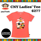 [Paul Frank] Celebrate CNY 2016 Monkey Year with Paul Frank Ladies Tee/Style 6277/Coral color. Size XS-L available. Free Qxpress Shipping/Store Pickup. 100% Authentic!