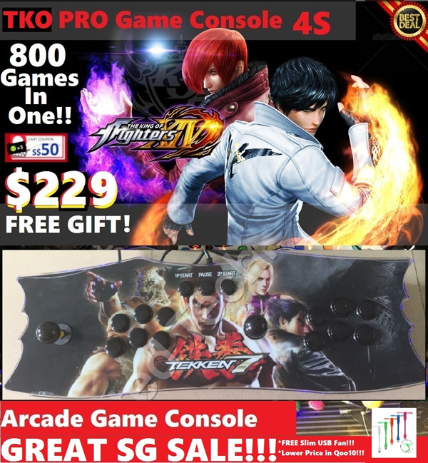 800 Games Arcade Games Joystick Controller Console Play Your Favourite Childhood Arcade Game!!! Deals for only S$750 instead of S$0
