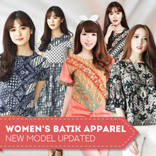 BATIK DRESS BLOUSE CHEONGSAM CULLOTE - Pastel n Bright Colors - Modern Batik Dress