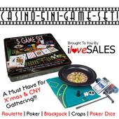 Casino 5 in 1 Set / Roulette Game Set / Poker Dice / Poker / Blackjack / Craps [NG]