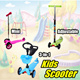 [New Arrival] 3/4 WHEELS KIDS SCOOTER * Kid Scooter/Skate Scooter/Outdoor Toy * Adjustable Candy Colour Kids Scooter suitable 2~12 years old * Stroller/Trike/Tricycle/Bike/Bicycle/Ride-on Toys