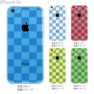 【iPhone5c】【iPhone5cケース】【iPhone5cカバー】【ケース】【カバー】【スマホケース】【クリアケース】【チェック・ボーダー・ドット】【ボックス・ブルー】 06-ip5c-ca0143の画像