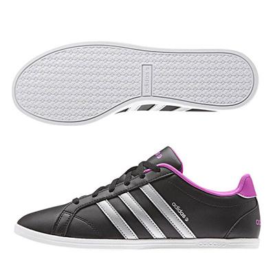 アディダス (adidas) レディース CONEO QT(コアブラック×マットシルバー×フラッシュピンク) F98268 [分類:レディースファッション スニーカー ローカット]の画像