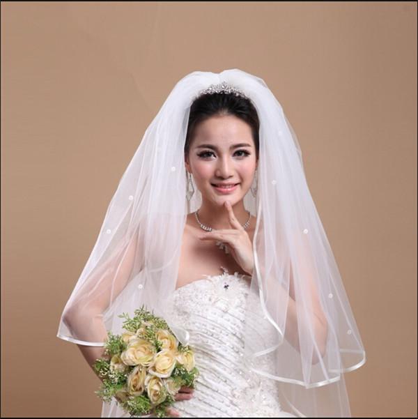 Qoo10ウエディングベール/ウェディングベール ロング ビーズウェディング ベール ショート/ 1.5M ウエディング/ヴェール/ブライダル/花嫁用品/結婚式アイテム/オフホワイト