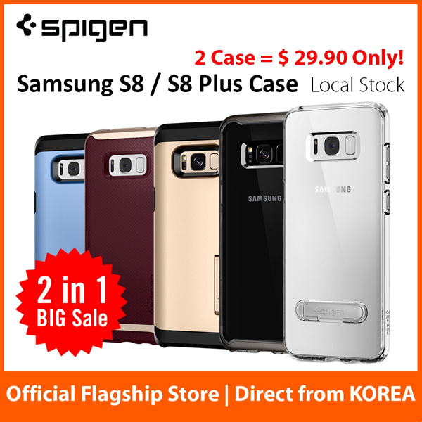 [Buy 1 Get 1 FREE] Spigen Samsung S8 / S8 Plus Case S8+ Casing Screen Protector Fast Free Delivery Deals for only S$49 instead of S$0