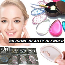 [$1.9 Each] CHEAPEST IN QOO10! ❤ BEAUTY SILICONE PUFF MAKEUP BLENDER SPONGE ❤ Transparent Silisponge