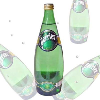 ペリエ プレーン 750mlボトル 12本入り 1ケース 【Perrier/ミネラルウォーター】【炭酸/硬水】の画像