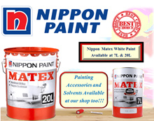 NIPPON MATEX  white paint 7lt and 20lts/ Interior Wall Paint /Emulsion Paint