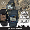 [CHEAPEST PRICE IN SPORE] *CASIO GENUINE* ARMY WATCH SERIES. POPULAR SPORTS WATCH F91 F94 F200 F201 Free Shipping and 1 year warranty!