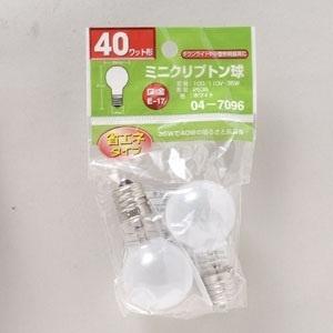 【クリックでお店のこの商品のページへ】OHM ミニクリプトン球 047096