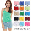 Buy 2 Free Shipping!FLEXI HOT PANTS! High Cotton Flexible Stretchable Shorts! Korean Japanese Fashion!★CASUAL SHORTS PANTS★VARIOUS COLOR/OFFICE/TRAVEL/HOLIDAY/WORK/OL/COMFY