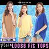 ★2 Nov Restocks★ Plain Tops / Loose Blouse / Loose top / Comfy wear / Loose fit tee / Woman tee / Loose Fit / Plus Size