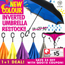 SUPER SALE/ GIFT IDEA/ SPECIAL UMBRELLA/ INVERTED UMBRELLA/ REVERSE/ INSIDE OUT/ C HANDLE/ CAR