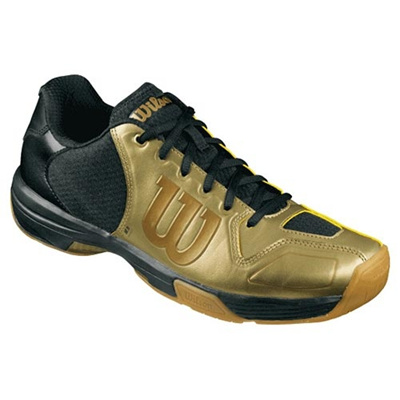 ウイルソン(Wilson) ヴェルテックス・マットゴールド(VERTEX Mat Gold) BLACK/GOLD WRS318500U 【バドミントン バドミントンシューズ フットウェア メンズ/レディース ウィルソン】の画像