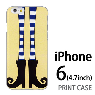 iPhone6 (4.7インチ) 用『1000 細足ブーツ 黄』特殊印刷ケース【 iphone6 iphone アイフォン アイフォン6 au docomo softbank Apple ケース プリント カバー スマホケース スマホカバー 】の画像